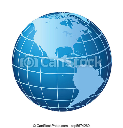 North and South America globe - csp5674260