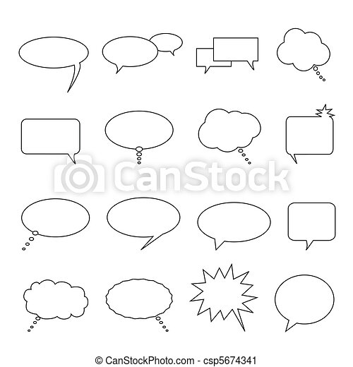 Speech, talk and thought balloons - csp5674341