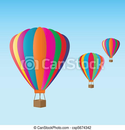 Hot air balloons at the festival - csp5674342