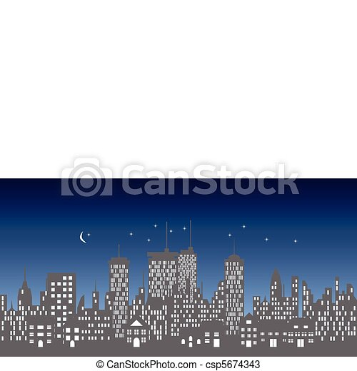 Urban skyline with buildings and skyscrapers - csp5674343