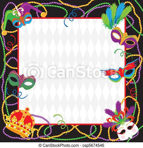 Mardi Gras Party Invitation - csp5674546