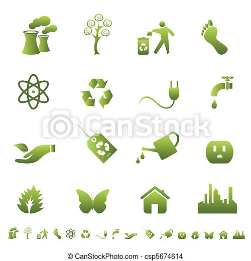 Environment and ecology symbols - csp5674614