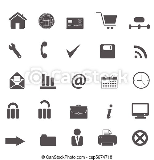 Web site and internet icons - csp5674718
