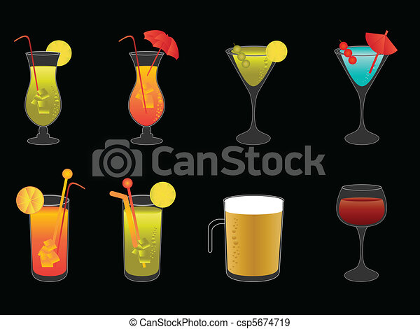 Alcoholic drinks, beer and wine - csp5674719