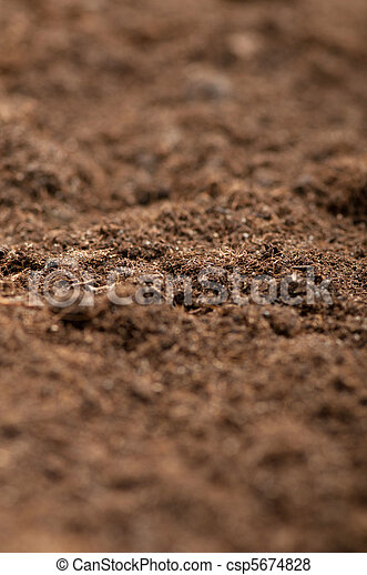 Close up of soil - can be used as background - csp5674828