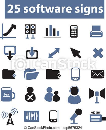 25 software signs, vector - csp5675324