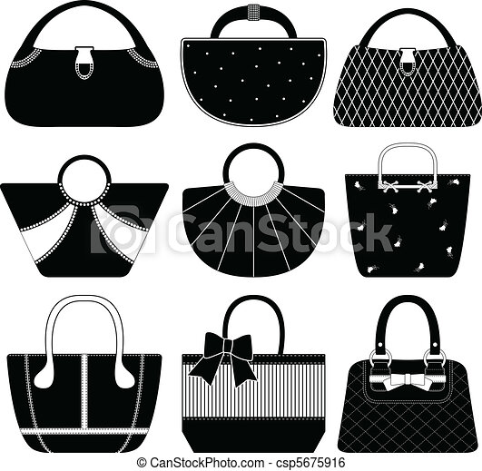 clip art vector of female bag handbag purse woman 9 purpose clip art purse clip art free