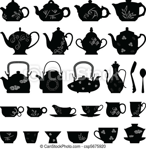 Tea Teapot Cup Asian Oriental - csp5675920