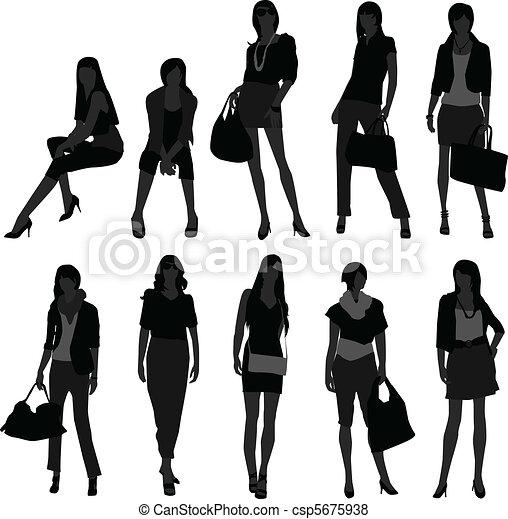 Woman Female Girl Shopping Model - csp5675938