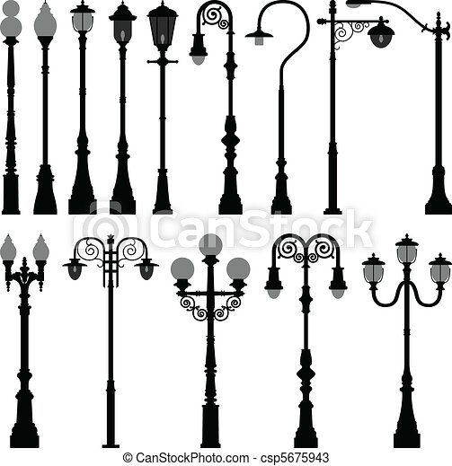 luz, lâmpada, rua,  lamppost, poste - csp5675943