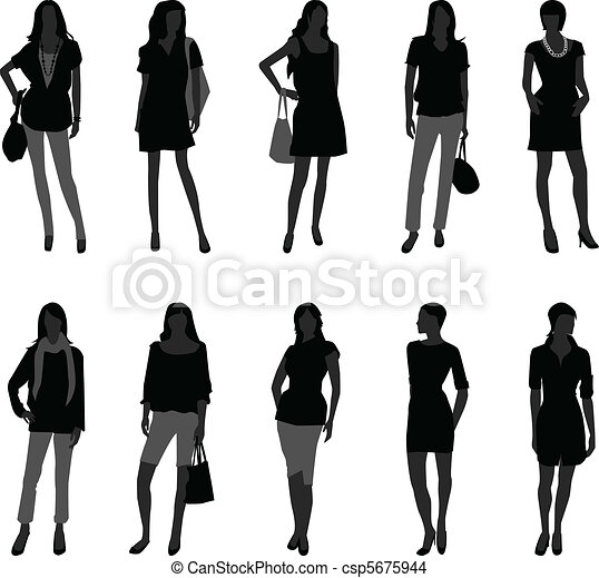 Woman Female Fashion Shopping Model - csp5675944