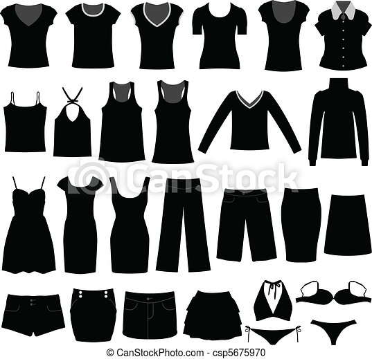Ladies dresses clip art