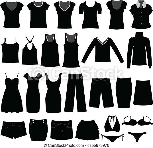 Woman Girl Female Shirt Cloth Wear - csp5675970