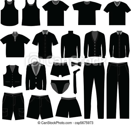 Men Man Male Shirt Cloth Wear - csp5675973
