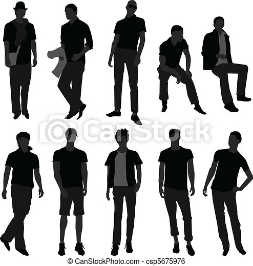 Man Men Male Fashion Shopping Model - csp5675976
