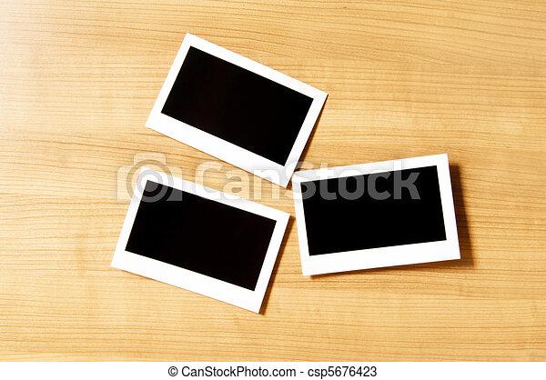 Designer concept - blank photo frames for your photos - csp5676423