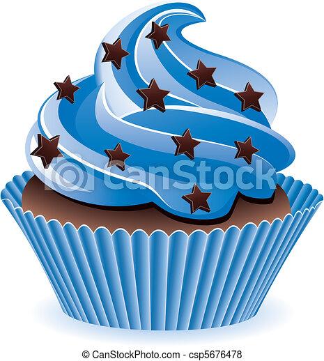 blue cupcake - csp5676478