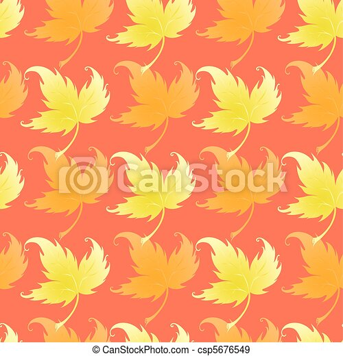 Wallpaper with curling leaves of a plant - csp5676549
