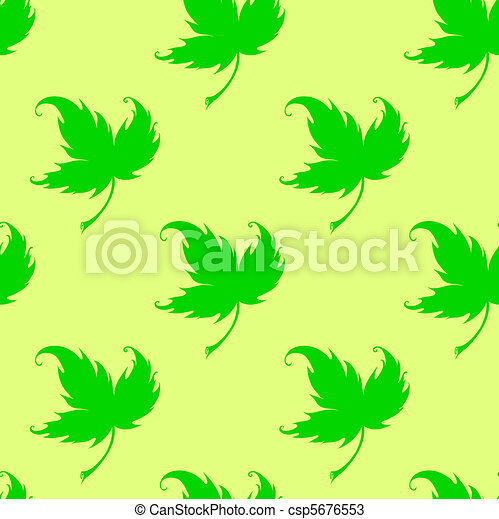Wallpaper with curling leaves of a plant - csp5676553