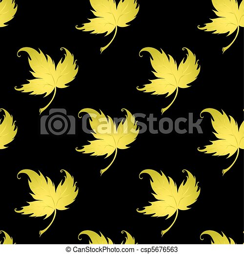 Wallpaper with curling leaves of a plant - csp5676563