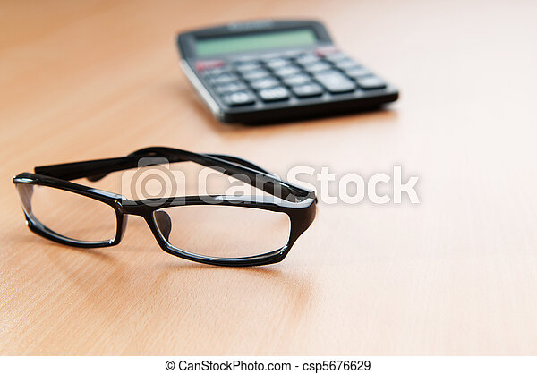Business concept with accounting calculator  - csp5676629