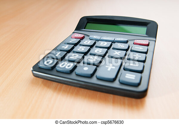 Business concept with accounting calculator  - csp5676630