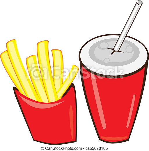 Drink And French Fries. - csp5678105