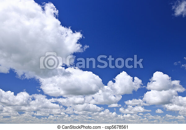 Blue sky with white clouds - csp5678561