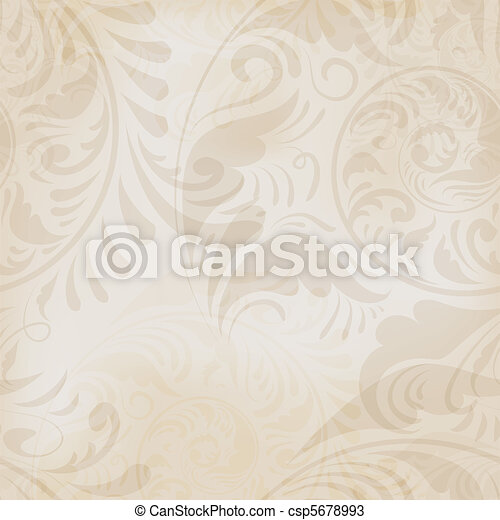 seamless floral vintage background - csp5678993