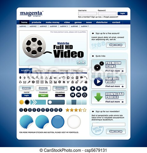 Web Design Website Element Template - csp5679131