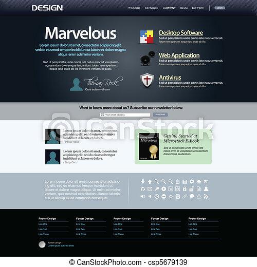 Web Design Website Element Templat - csp5679139
