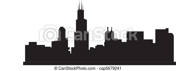 Chicago Skyline Drawings Vector Chicago Skyline