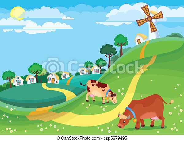 Rural landscape - csp5679495