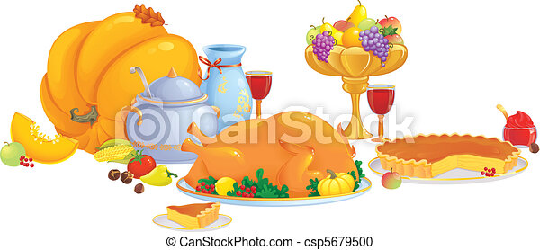 Thanksgiving dinner  - csp5679500