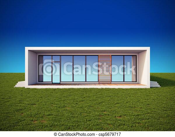 Modern house in minimalist style. - csp5679717