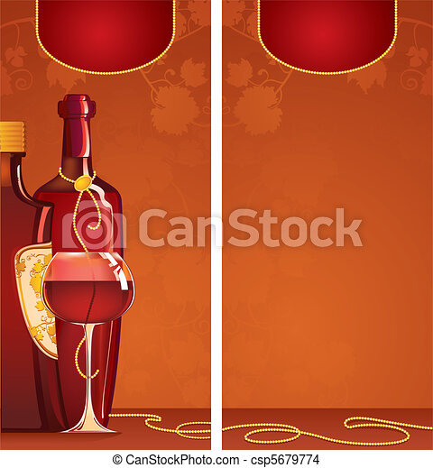 EPS Vector of Template of wine list Vector illustration of – Free Wine List Template