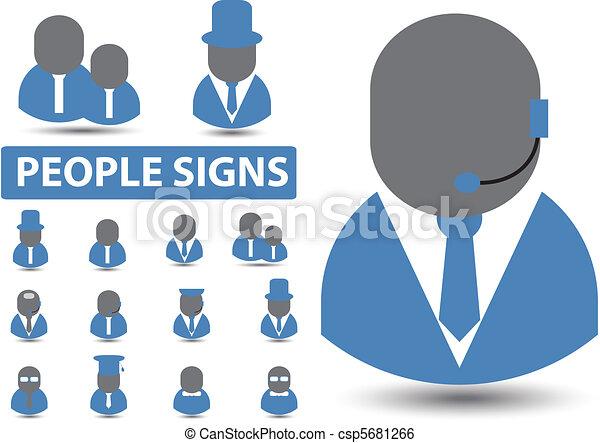 professions signs, vector - csp5681266
