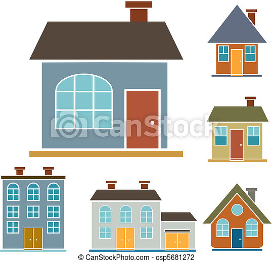 4 family houses - csp5681272