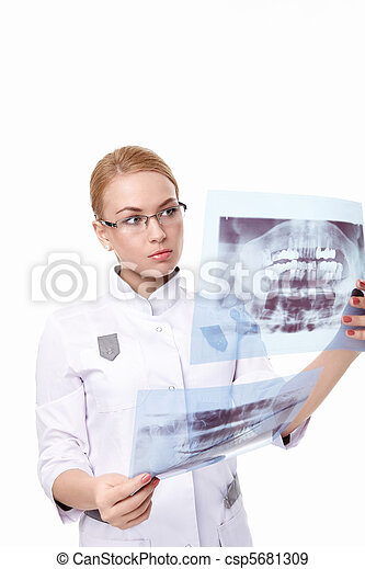 Dentist with X-ray - csp5681309