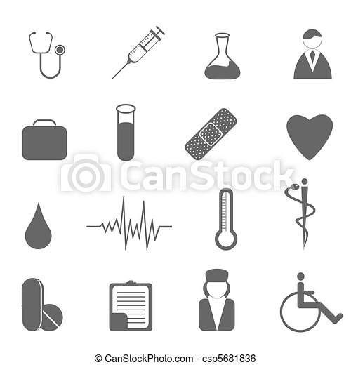 Health care and medical symbols - csp5681836