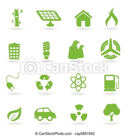 Ecological and environmental symbols - csp5681842