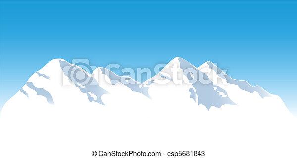 Snowy mountain tops - csp5681843