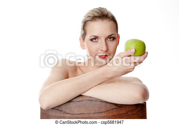Seduction with an apple - csp5681947