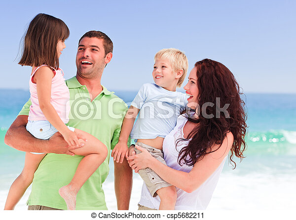 Children playing with their parents - csp5682211