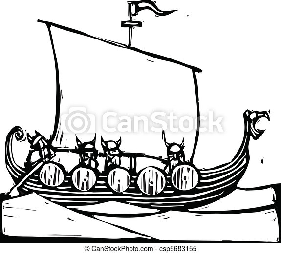 Viking Ship - csp5683155