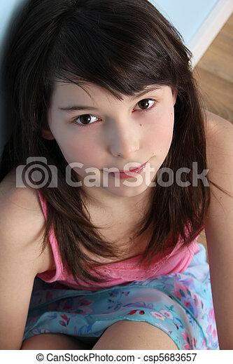 Up brunette teen html img