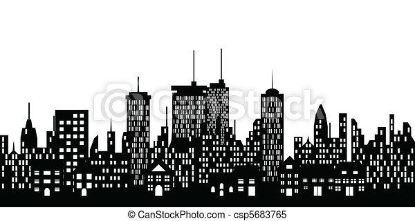 Urban skyline of a city - csp5683765