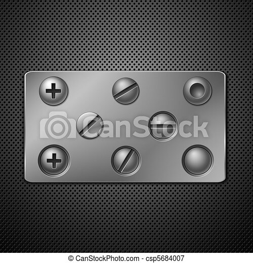 Screws and rivets. Elements for your design. Vector illustration. - csp5684007