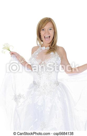 smiling bride - csp5684138