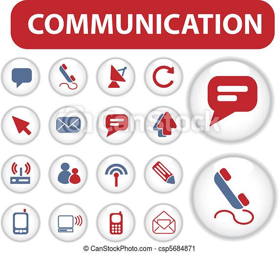 blog communication buttons - csp5684871